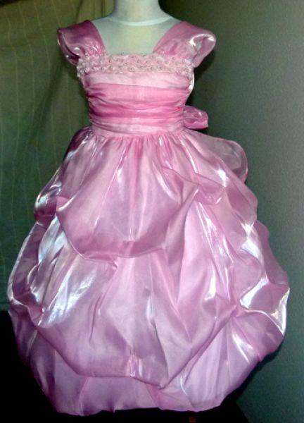 Koszorúslány ruha KO 012   rózsaszín fényes tüll  ef79d1682b