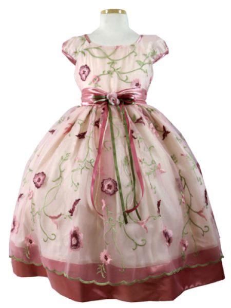Koszorúslány ruha KO 041   koszoruslány ruha himzett virágokkal 8197266b31
