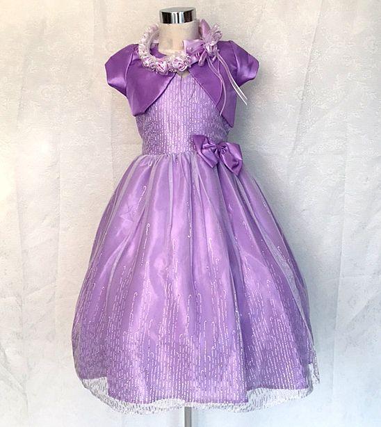 Koszorúslány ruha KO 048   halvány lila nyakba akaszthatós tűll aljal ezüst  szálakkal 85fd5acbbe